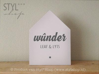 Houten huisje Frysk / Fries - wûnder, leaf en lyts - wit