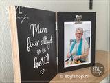 Fotolijst in memoriam Fries heit foar altyd yn us hert rouw mem geschenk