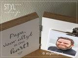 Fotolijst in memoriam papa voor altijd in ons hart rouwgeschenk