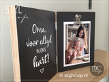 Fotolijst in memoriam oma voor altijd in ons hart rouwgeschenk