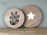 decoratiebord rond hout dromenvanger