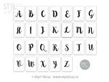 Kaarten slinger letters & cijfers - Serie 1_