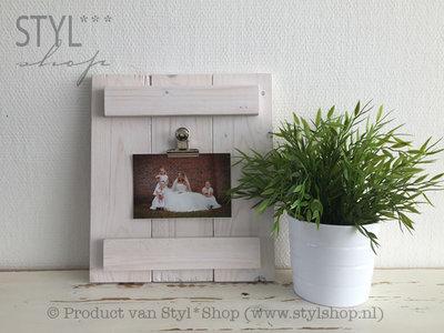 MO - Rustiek houten klembord wit