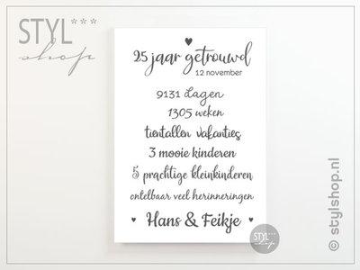 Poster huwelijksjubileum