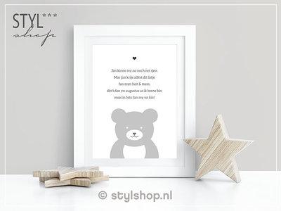 Ansichtkaart Jim kinne my noch net sjen... - Frysk - zwangerschapsaankondiging