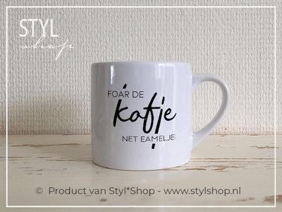 Koffiekopje Foar de kofje net eamelje