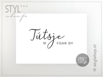 Friese ansichtkaart Tútsje foar dy