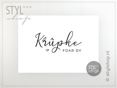 Friese ansichtkaart Krûpke foar dy