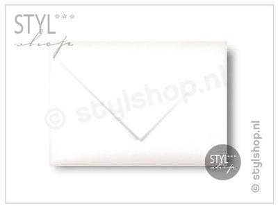 Envelop Wit metallic A6