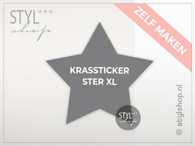 Krassticker ster XL