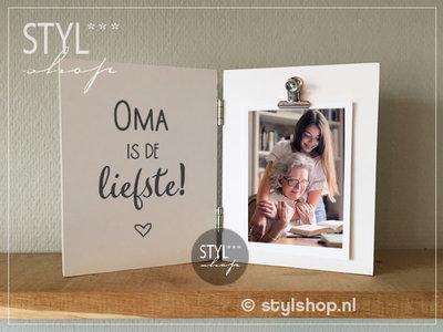 Fotolijst Oma is de liefste Tweeluik