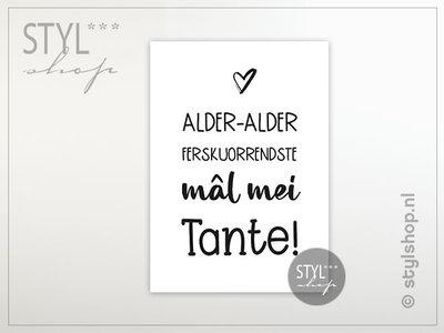 Friese ansichtkaart Mal mei tante
