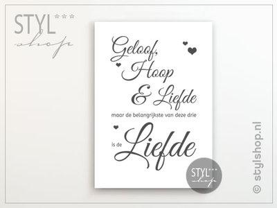 Poster Geloof Hoop en Liefde