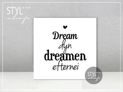 Fries tegeltje Dream dyn dreamen efternei....