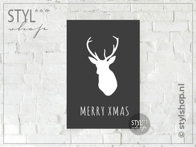 Tekstbord A4 Merry XMAS...