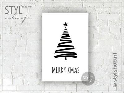 Tekstbord A4 Kerstboom Merry XMAS...