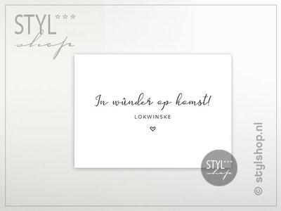 Friese ansichtkaart In wunder op komst Frysk Fries - zwart / wit