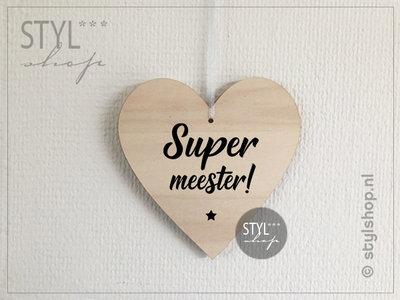 Houten hartje Super meester