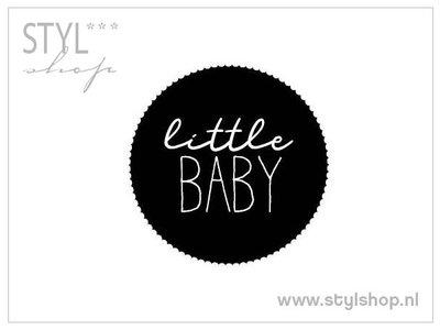 Sticker little baby 10 stuks