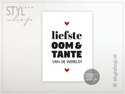 Ansichtkaart Liefste oom en tante van de wereld