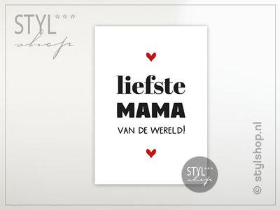 Ansichtkaart Liefste mama van de wereld