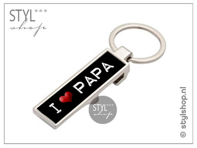Sleutelhanger met opener I love papa