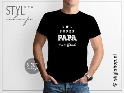 T Shirt Super Papa met namen