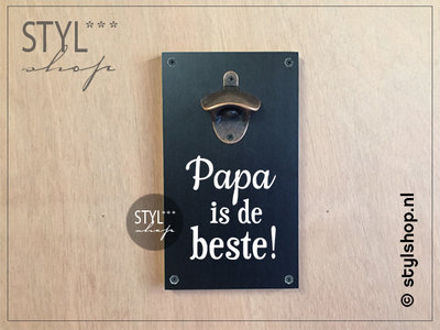 Bierplankje Papa is de beste