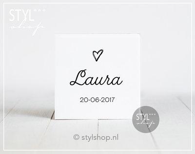 Geboortetegel meisje hart