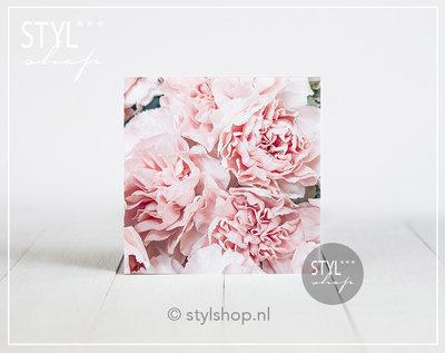 Tegel Roze bloemen