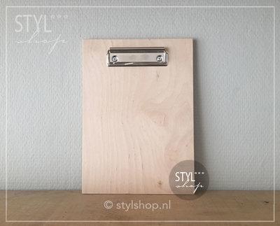 Houten klembord hout A5 middel draadklem