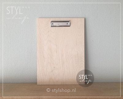 Houten klembord hout A4 groot draadklem