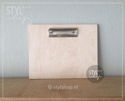 Houten klembord hout A5 middel draadklem liggend