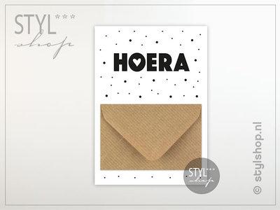 Geld kado envelop geldkaart Hoera