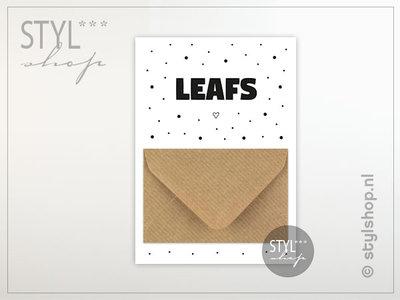 Geld kado envelop geldkaart Leafs