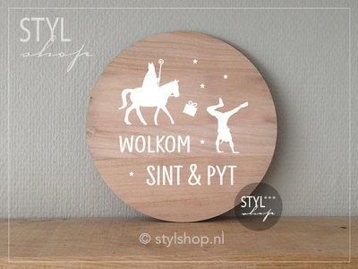 Muurcirkel decoratie Sinterklaas Frysk versiering Wolkom Sint en Pyt