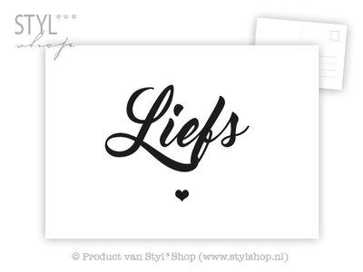 Ansichtkaart Liefs - zwart-wit
