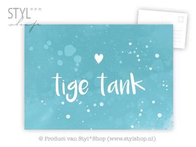 Ansichtkaart Tige Tank - Frysk Fries - kleur