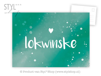Ansichtkaart Lokwinske - Frysk Fries - kleur