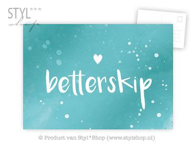 Ansichtkaart Betterskip - Frysk Fries - kleur