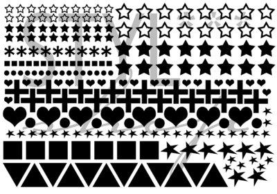 Sticker - Muurstickers - symbolen -  versie 1
