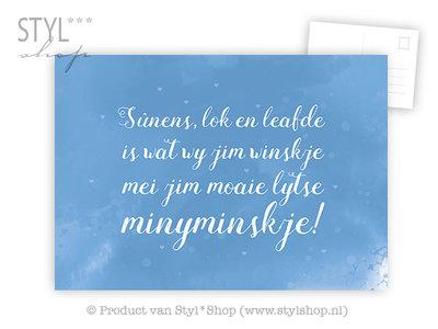 Ansichtkaart Sûnens lok leafde - jonkje - Frysk Fries