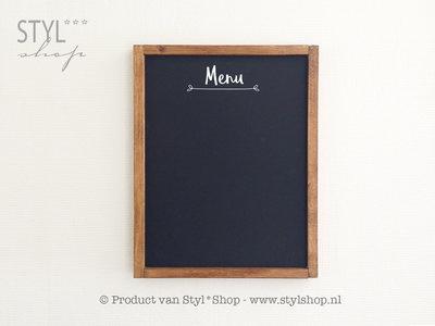 Krijtbord met houten lijst - Menu - 2