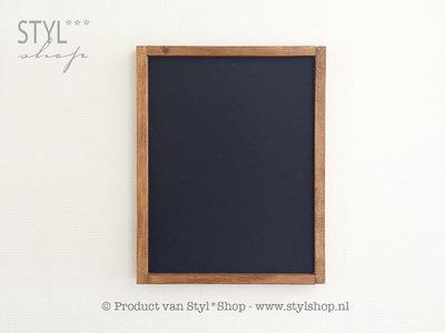 Krijtbord met houten lijst - Blanco