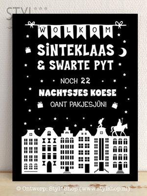 Krijtbord Sinterklaas - Aftelkalender Frysk