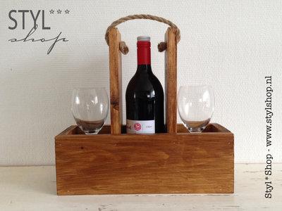 Wijnhouder -wijndrager - blanco - zonder tekst