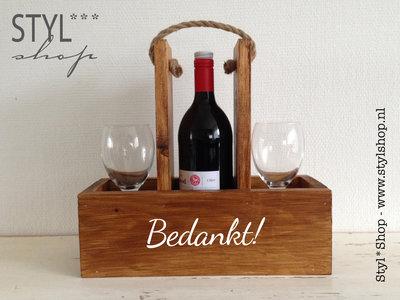 Wijnhouder - wijndrager - Bedankt