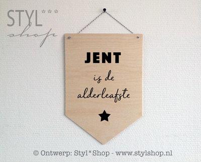 Houten banner met naam -Frysk- is de alderleafste