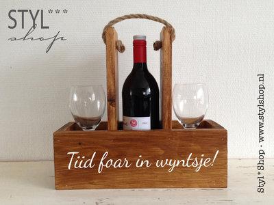 Wijnhouder - wijndrager - Tiid foar in wyntsje