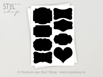 16 Krijtbord Schoolbord Divers Sticker Etiket Label